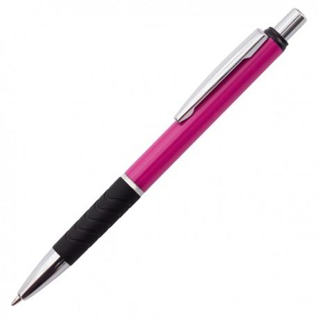Długopis Andante Solid, różowy/czarny