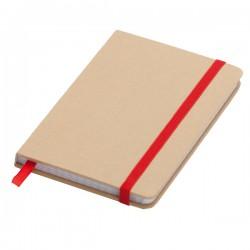 Notatnik 90x140/80k kratka Lisboa Mini, czerwony/beżowy