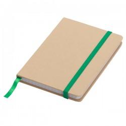 Notatnik 90x140/80k kratka Lisboa Mini, zielony/beżowy