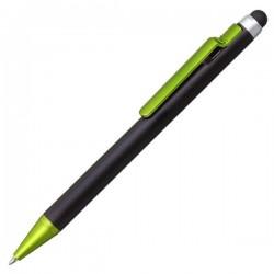 Długopis z rysikiem Amarillo, zielony/czarny