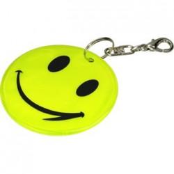 Brelok odblaskowy Happy, żółty - druga jakość