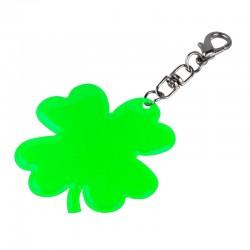 Brelok odblaskowy Lucky Clover, zielony - druga jakość