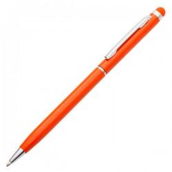 Długopis aluminiowy Touch Tip, pomarańczowy