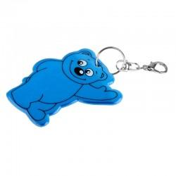 Brelok odblaskowy Beary, niebieski - druga jakość