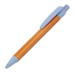 Długopis bambusowy Evora, niebieski