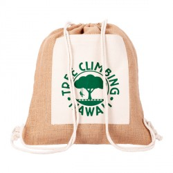Plecak jutowy Eco-Pure, brązowy