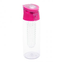 Bidon Frutello 700 ml, różowy/transparentny