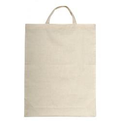 Bawełniana torba na zakupy - krótkie uszy, beżowy