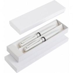 Zestaw piśmienny metalowy długopis i pióro kulkowe