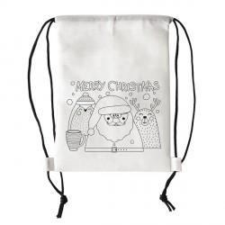 Plecak non-woven dla dzieci Christmas, biały