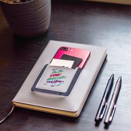 Notes z kieszonką na telefon Eibar, szary