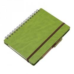 Notatnik 160x210/70k linia Granada, zielony - druga jakość