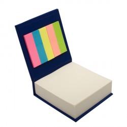 Blok z karteczkami, niebieski - druga jakość