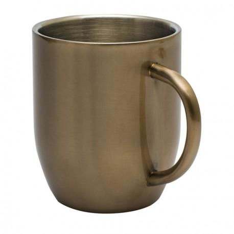 Kubek stalowy Dusk 380 ml, złoty - druga jakość