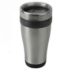 Kubek izotermiczny Boden 430 ml, czarny/srebrny - druga jakość