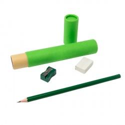 Zestaw szkolno-biurowy Tubey, zielony