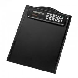 Podkładka z kalkulatorem Meeting Mate, czarny