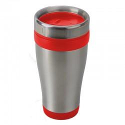 Kubek izotermiczny Boden 430 ml, czerwony/srebrny