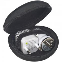 Zestaw - ładowarka samochodowa USB i wtyczka