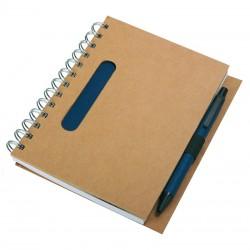 Notes eco z długopisem, granatowy/beżowy
