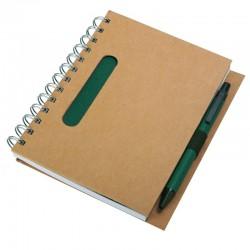 Notes eco z długopisem, zielony/beżowy