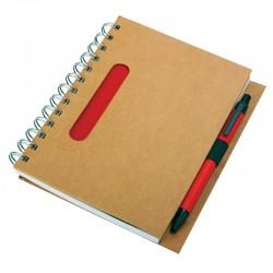 Notes 120x180/70k linia Eco, czerwony/beżowy