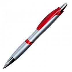 Długopis Fatso, czerwony/srebrny