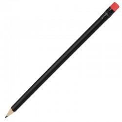 Ołówek drewniany, czerwony/czarny