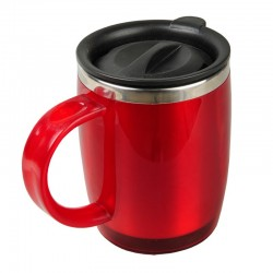 Kubek izotermiczny Barrel 400 ml, czerwony